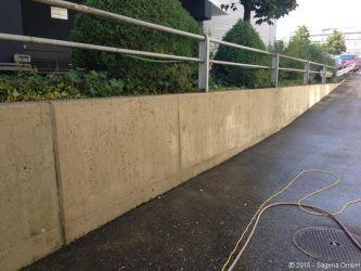 Mauer nach der Reinigung